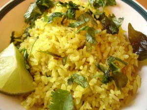 low oxalate Poha (fried flattened rice)